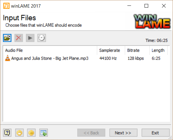 winLAME screenshot